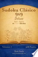 libro Sudoku Clásico 9x9 Deluxe   De Fácil A Experto   Volumen 7   468 Puzzles