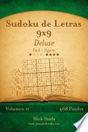 Sudoku De Letras 9×9 Deluxe   De Fácil A Experto   Volumen 11   468 Puzzles