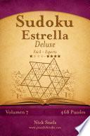 libro Sudoku Estrella Deluxe   De Fácil A Experto   Volumen 7   468 Puzzles