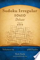 libro Sudoku Irregular 10x10 Deluxe   Experto   Volumen 24   468 Puzzles