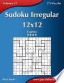 libro Sudoku Irregular 12x12   Experto   Volumen 19   276 Puzzles