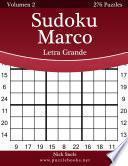 libro Sudoku Marco Impresiones Con Letra Grande   Volumen 2   276 Puzzles