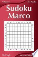 libro Sudoku Marco   Volumen 1   276 Puzzles