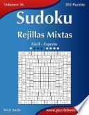 libro Sudoku Rejillas Mixtas   De Fácil A Experto   Volumen 36   282 Puzzles