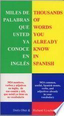 Miles De Palabras Que Ya Conoce En Inglés