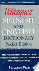 Velazquez Spanish And English Dictionary