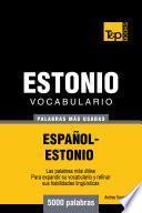 Vocabulario Español Estonio   5000 Palabras Más Usadas