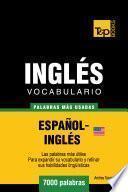 Vocabulario Español Inglés Americano   7000 Palabras Más Usadas
