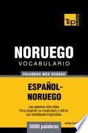 Vocabulario Español Noruego   5000 Palabras Más Usadas