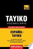 Vocabulario Español Tayiko   9000 Palabras Más Usadas