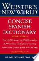 Webster S New World Concise Spanish Dictionary