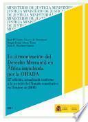 libro Armonización Del Derecho Mercantil En África Impulsada Por La Ohada 2011
