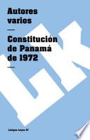 Constitución De Panamá 1972