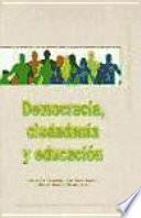 libro Democracia, Ciudadanía Y Educación