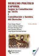 Derecho Político Español.según La Constitución De 1978