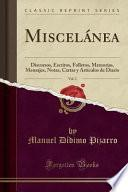 libro Miscelánea, Vol. 2