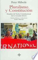 libro Pluralismo Y Constitución