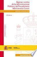 libro Régimen Jurídico De Las Administraciones Públicas Y Del Procedimiento Administrativo Común