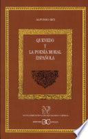 libro Quevedo Y La Poesía Moral Española