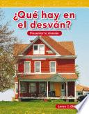libro ¿qué Hay En El Desván? (what Is In The Attic?)