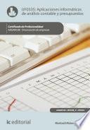 Aplicaciones Informáticas De Análisis Contable Y Presupuestos. Adgn0108