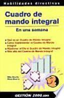 libro Cuadro De Mando Integral En Una Semana