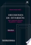 libro Decisiones De Inversión