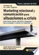 libro Marketing Relacional Y ComunicaciÓn Para Situaciones De Crisis