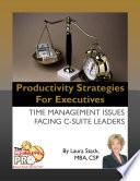libro Productivity Strategies For Executives