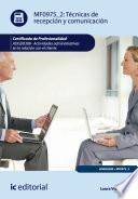 libro Técnicas De Recepción Y Comunicación. Adgg0208
