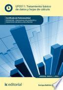 libro Tratamiento Básico De Datos Y Hojas De Cálculo. Adgg0508