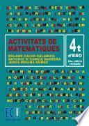 Activitats De Matemàtiques. 4t D Eso