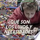 ¿qué Son Los Lujos Y Necesidades? (what Are Wants And Needs?)