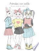 Animales Con Estilo Libro Para Colorear Para Adultos 1 & 2