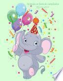 Animales En Fiesta De Cumpleaños Libro Para Colorear 1