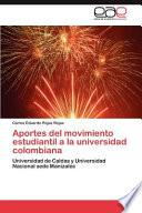 libro Aportes Del Movimiento Estudiantil A La Universidad Colombian