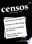 libro Censos. Enero Febrero, 1990. Número 1