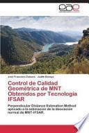 Control De Calidad Geometrica De Mnt Obtenidos Por Tecnologia Ifsar