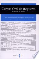 Corpus Oral De Registres. Materials De Treball (llibre + Cd Rom)