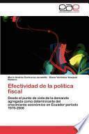 libro Efectividad De La Política Fiscal