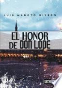 libro El Honor De Don Lope