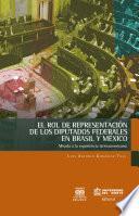 El Rol De Representación De Los Diputados Federales En Brasil Y México