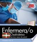 Enfermera/o. Servicio Vasco De Salud Osakidetza. Temario. Vol.iv