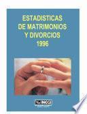 Estadísticas De Matrimonios Y Divorcios 1996