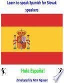 libro Learn To Speak Spanish For Slovenian Speakers