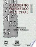 libro Macuspana Estado De Tabasco. Cuaderno Estadístico Municipal 1998