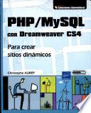 Php/mysql Con Dreamweaver Cs4php/mysql Con Dreamweaver Cs4   Para Crear Sitios Dinámicos