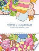 Postres Y Magdalenas Libro Para Colorear Para Adultos 1, 2 & 3