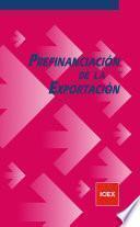 libro Prefinanciación De La Exportación