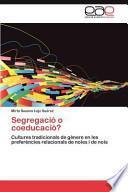 libro Segregació O Coeducació?